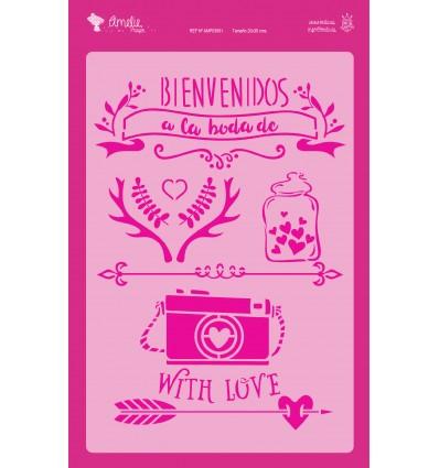 Amelie Stencil - 03061 Bienvenidos A La Boda