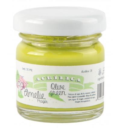 Amelie Acrílico 08 Olive Green. 30 ml
