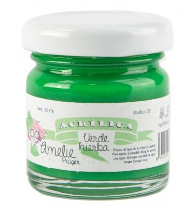 Amelie Acrílico 09 Verde Hierba. 30 ml