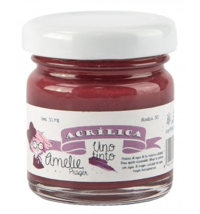 Amelie Acrílico 30 Vino tinto. 30 ml