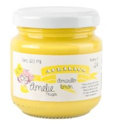 Amelie Acrílica 24 AMARILLO LIMÓN 120ml