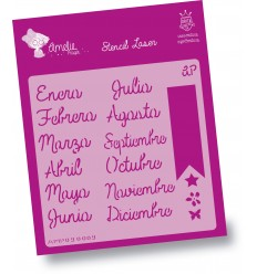 Stencil Amelie - 09009 Meses del Año Español