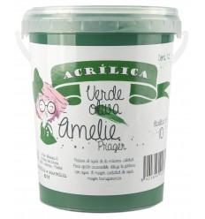 Amelie Acrilica 10 VERDE OLIVA 1L
