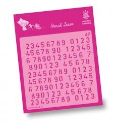 Amelie Stencil - 02056 Numeros Aleatorios