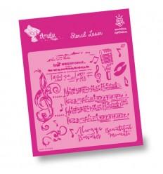 Amelie Stencil - 07029 Notas Musicales