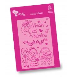 Amelie Stencil - 03098 Vivan los Novios