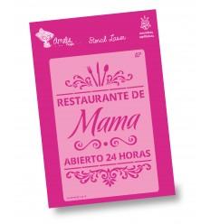 Amelie Stencil - 03104 Restaurante de Mama
