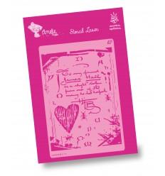 Amelie Stencil - 03111 Corazón y texto