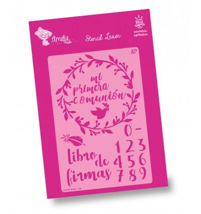 Amelie Stencil - 03112 Libro de Firmas Comunión
