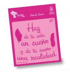 Amelie Stencil - 09031 Haz de Tu Vida un sueño