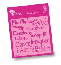 Amelie Stencil - 02058 Mixmedia, Scrap, Create ...