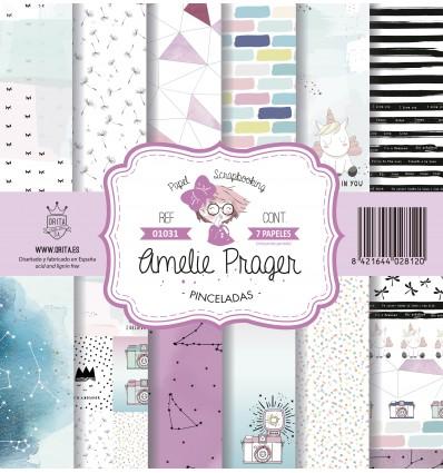 AMELIE PINCELADAS (SET 7 PAPELES)