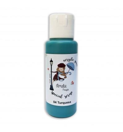 04 - Turquesa - Acrylic paint special scrap 60 ml