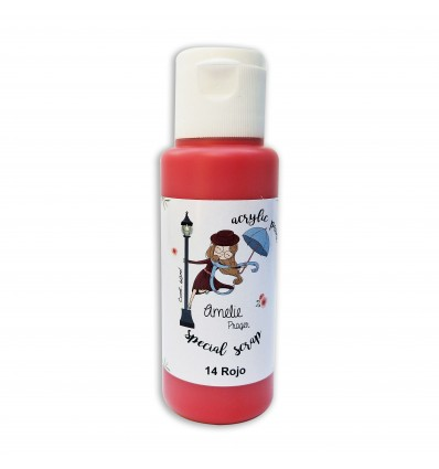 14 - Rojo - Acrylic paint special scrap 60 ml