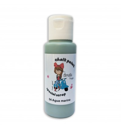 04 - Agua marina - Chalk paint special scrap 60 ml
