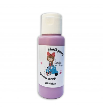 08 - Malva - Chalk paint special scrap 60 ml