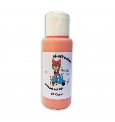 09 - Coral - Chalk paint special scrap 60 ml