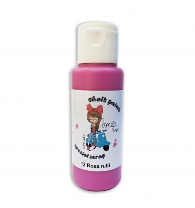 12 - Rosa rubí - Chalk paint special scrap 60 ml
