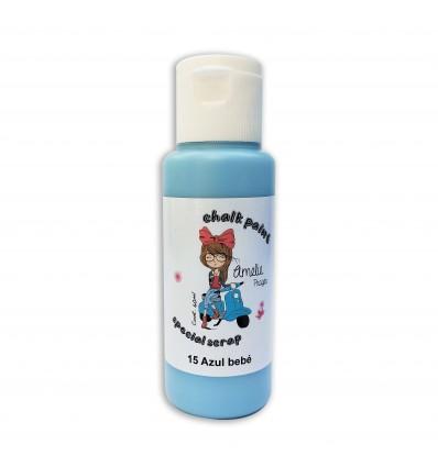 15 - Azul bebé - Chalk paint special scrap 60 ml