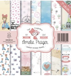 AMELIE WORLD TRAVEL (SET 8 PAPELES)