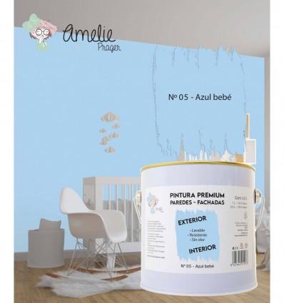 Pintura Paredes Premium int - ext 05 Azul Bebé