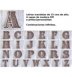 juego 25 Letras abecedario - Mándalas