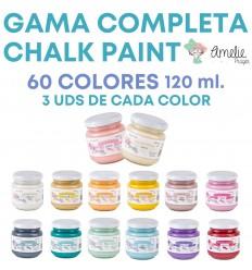 GAMA COMPLETA CHALK PAINT AMELIE 180 UDS. 120ML