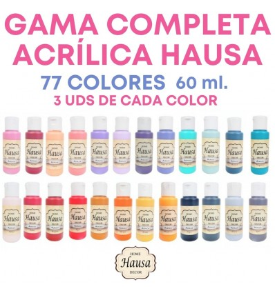 GAMA COMPLETA ACRÍLICA HAUSA 231 UDS. 60ML